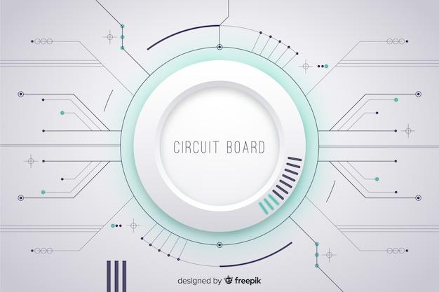 Fond de circuit imprimé Vecteur gratuit