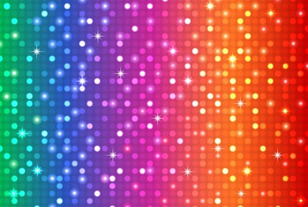 Fond clair disco couleur arc-en-ciel abstrait Vecteur Premium