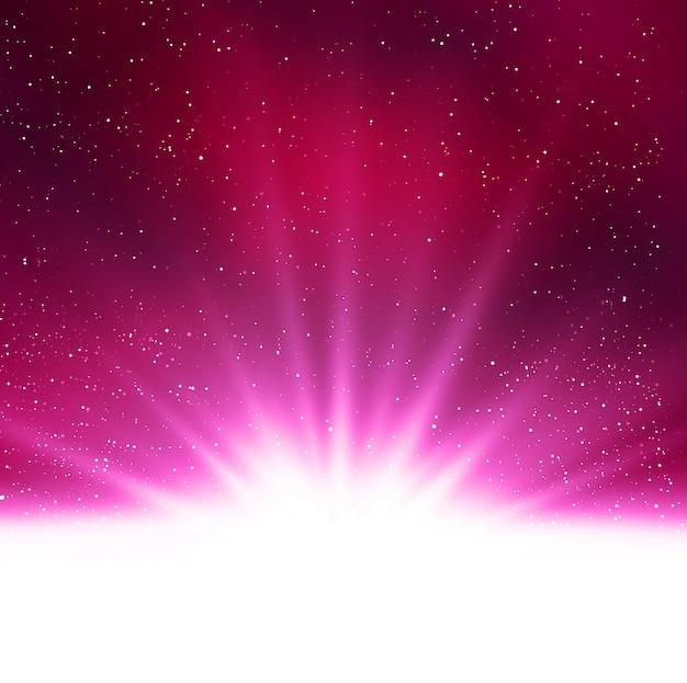 Fond Clair Violet Magique Abstrait Brillant Vecteur Premium