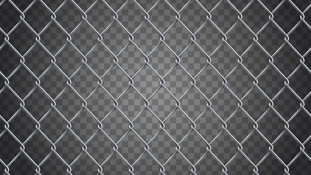 Fond de clôture sans soudure chaîne réaliste. Vecteur Premium