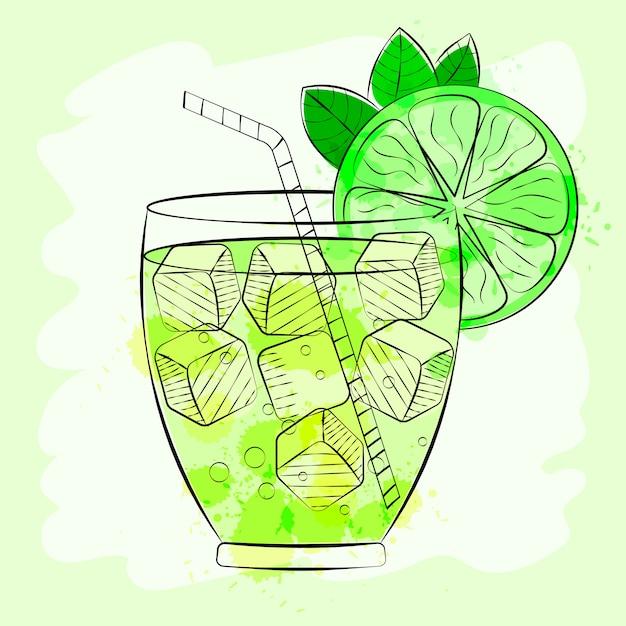 Fond de cocktail tropical Vecteur Premium