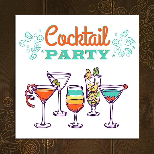 Fond de cocktail Vecteur Premium