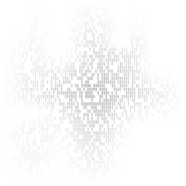 Fond de code binaire avec les chiffres un et zéro. Vecteur Premium