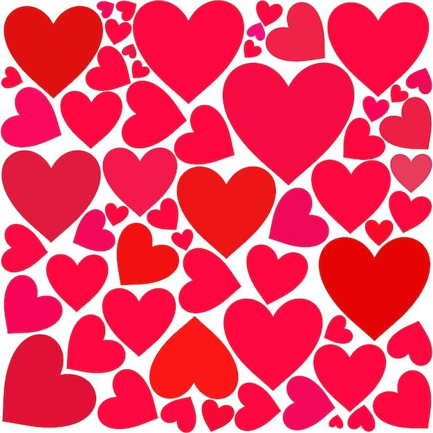Fond de coeur Vecteur Premium