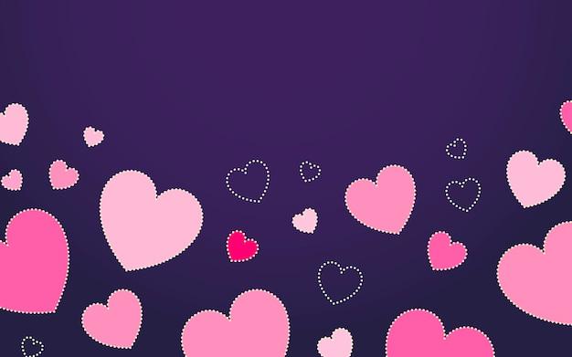Fond de coeur Vecteur gratuit
