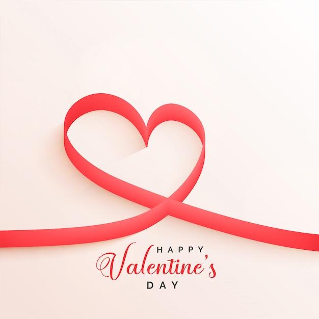 Fond de coeurs de ruban élégant saint valentin Vecteur gratuit