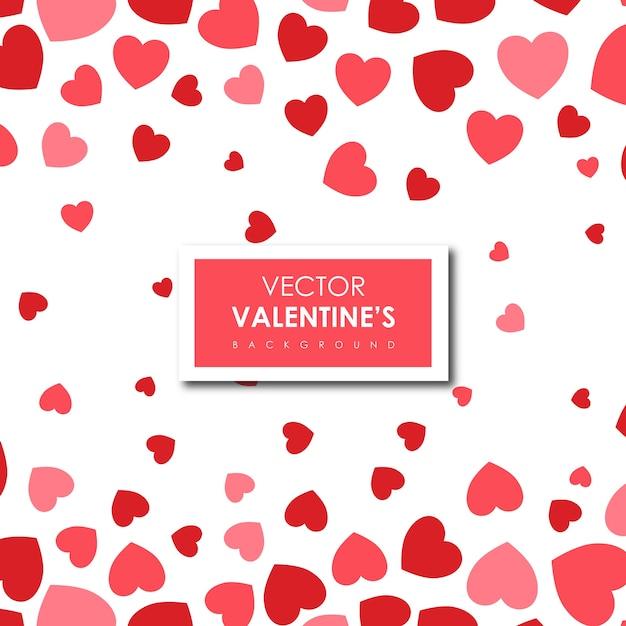 Fond de coeurs simple saint-valentin Vecteur gratuit