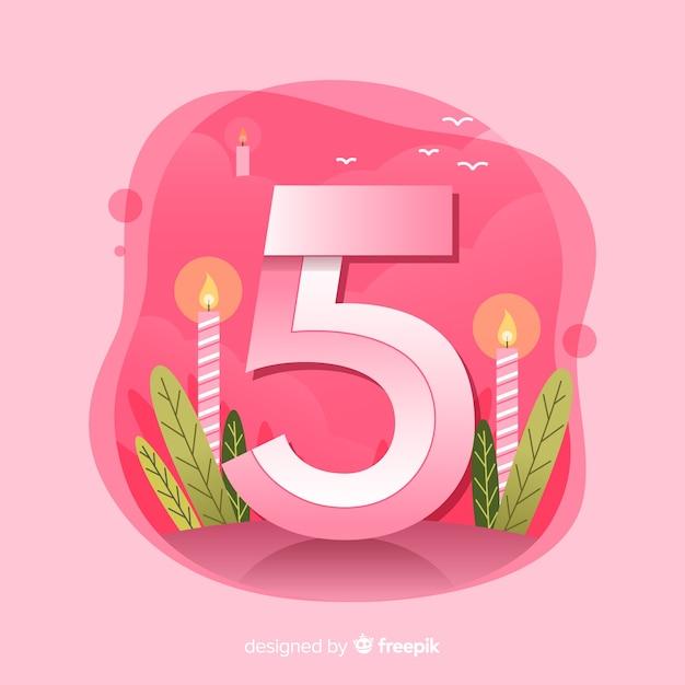 Fond coloré abstrait joyeux anniversaire Vecteur gratuit