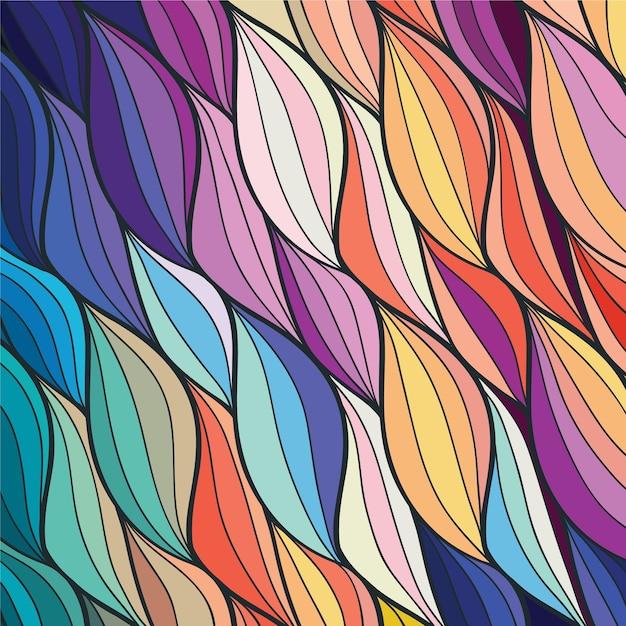 Fond Coloré Abstrait Vecteur Premium