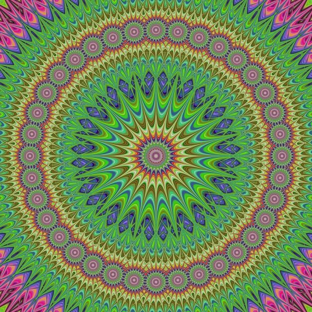 Fond coloré de conception de fractale de mandala Vecteur gratuit