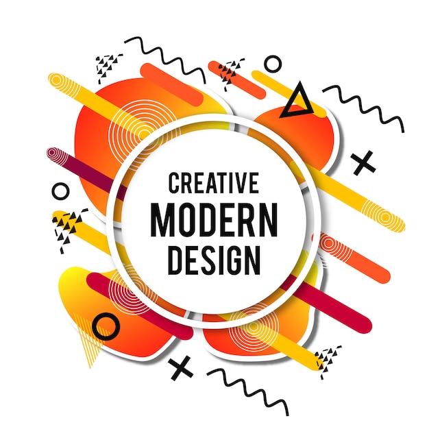 Fond coloré de dégradé coloré Art moderne Vecteur gratuit