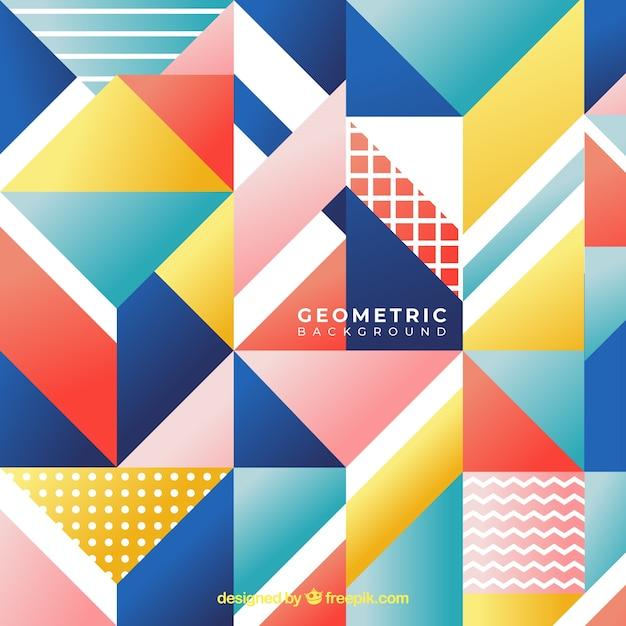 Fond Coloré Avec Des Formes Géométriques Vecteur gratuit