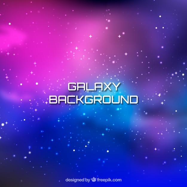 Fond coloré de galaxies colorées Vecteur gratuit