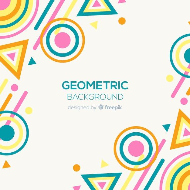 Fond coloré géométrique Vecteur gratuit