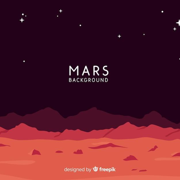 Fond coloré de mars avec design plat Vecteur gratuit