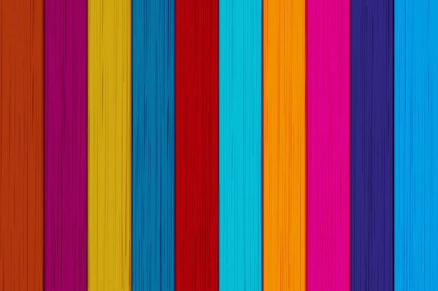 Fond coloré de planches de bois. Vecteur Premium