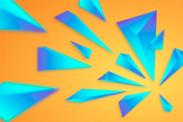 Fond Coloré Avec Des Triangles 3d Vecteur gratuit
