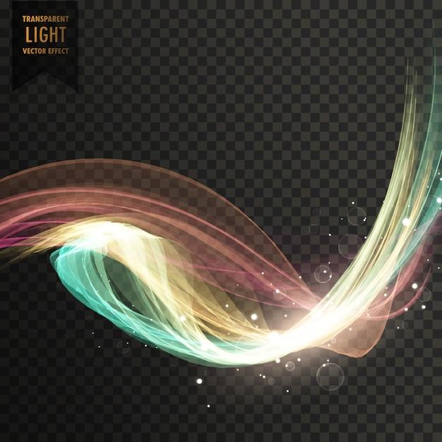 Fond coloré vecteur effet lumière tranparent Vecteur gratuit