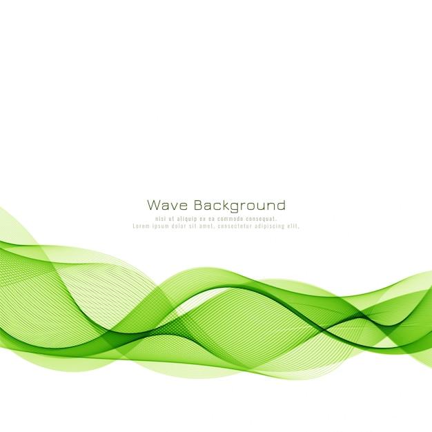 Fond de commerce abstrait vague verte Vecteur gratuit