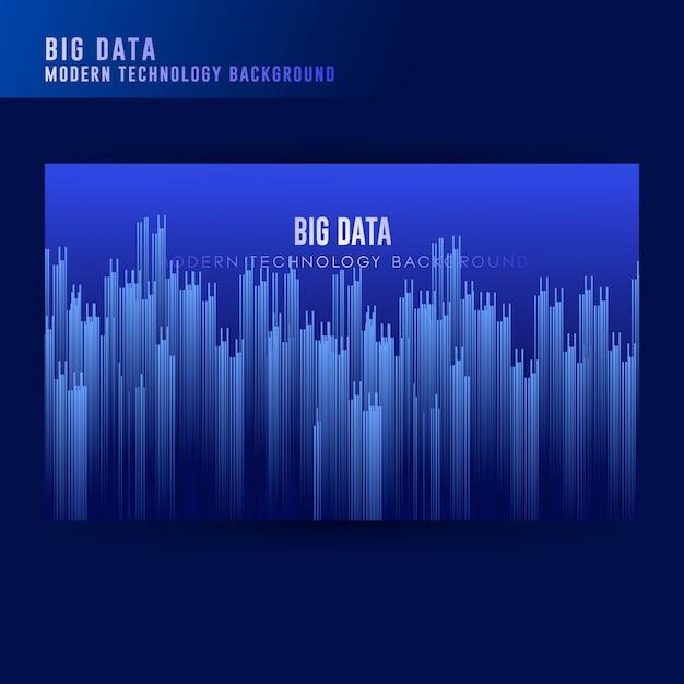 Fond De Concept Big Data Vecteur Premium