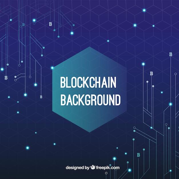 Fond De Concept De Blockchain Vecteur gratuit