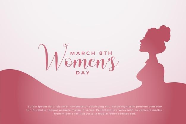 Fond De Concept De Bonne Journée Des Femmes Vecteur gratuit