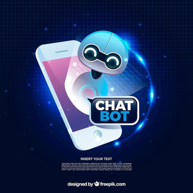 Fond De Concept De Chatbot Dans Un Style Réaliste Vecteur gratuit