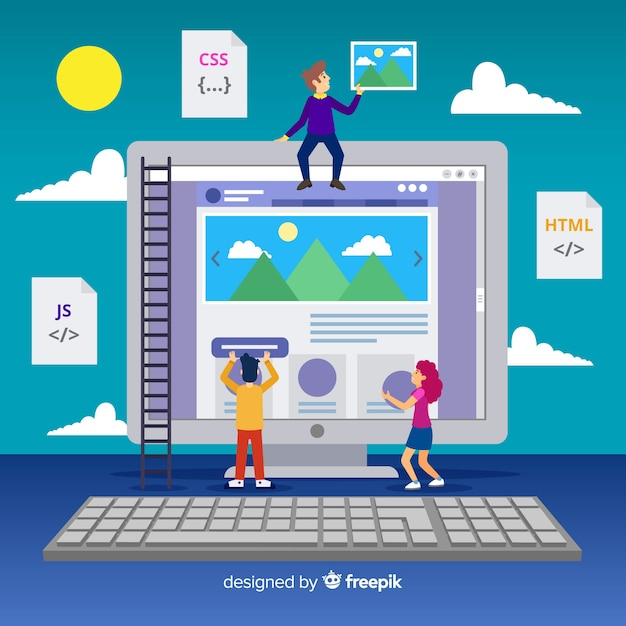 Fond de concept de design web Vecteur gratuit