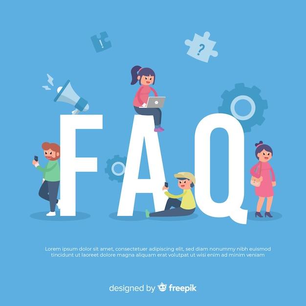 Fond de concept de faq Vecteur gratuit