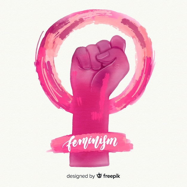 Fond de concept de féminisme Vecteur gratuit