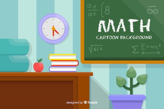 Fond de concept mathématique de dessin animé Vecteur gratuit