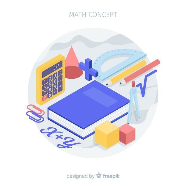 Fond de concept mathématique isométrique Vecteur gratuit