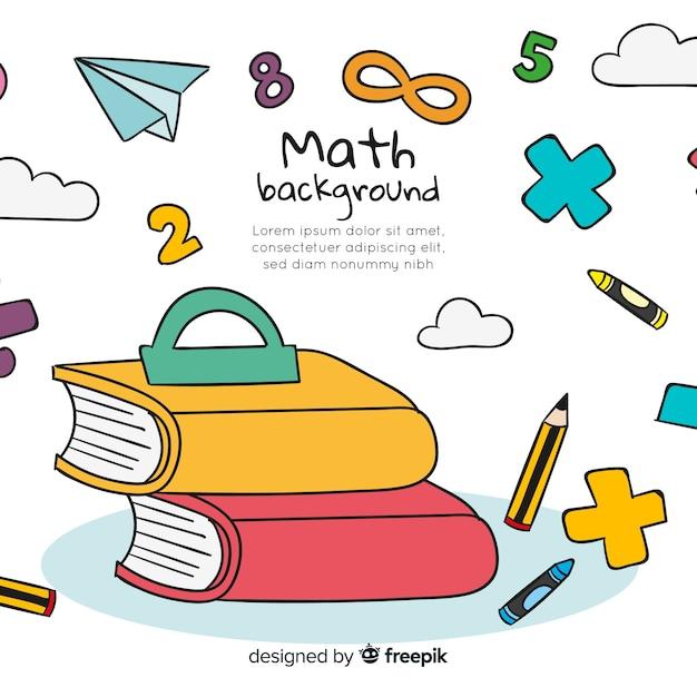 Fond de concept maths de dessin animé Vecteur gratuit