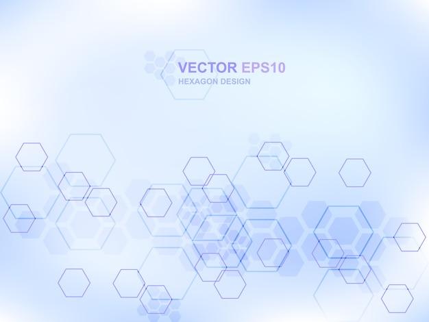 Fond De Concept Médical Technologie Hexagone Vecteur Premium