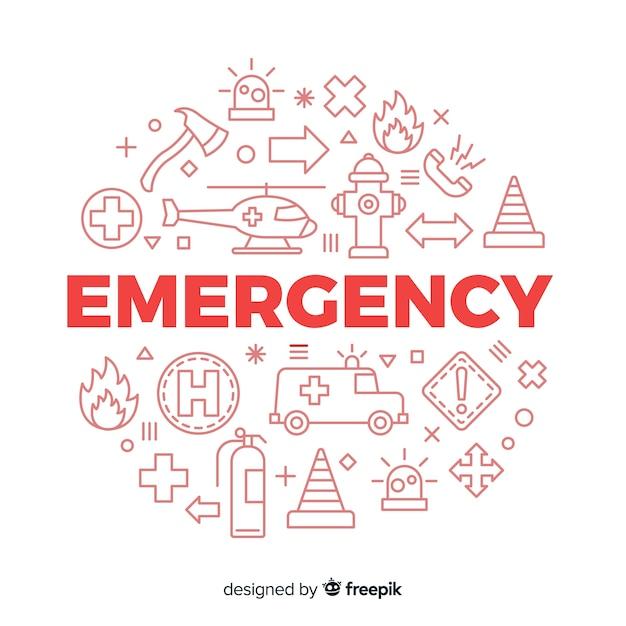 Fond de concept de mot d'urgence Vecteur gratuit