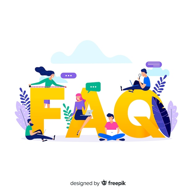 Fond de concept plat faq Vecteur gratuit