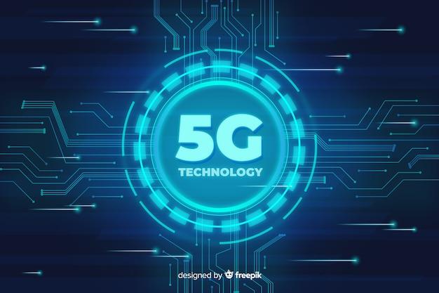 Fond de concept technologique 5g Vecteur gratuit