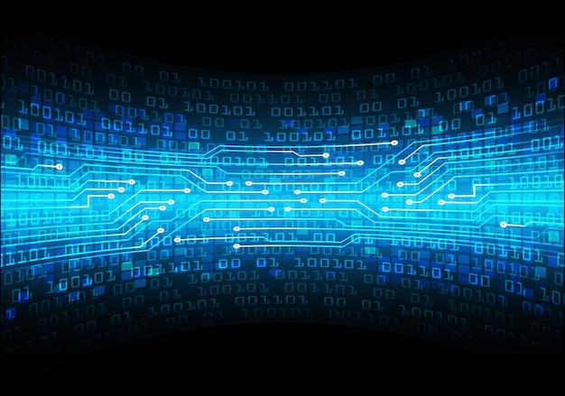 Fond De Concept Technologique Futur Cybercircuit Bleu Vecteur Premium