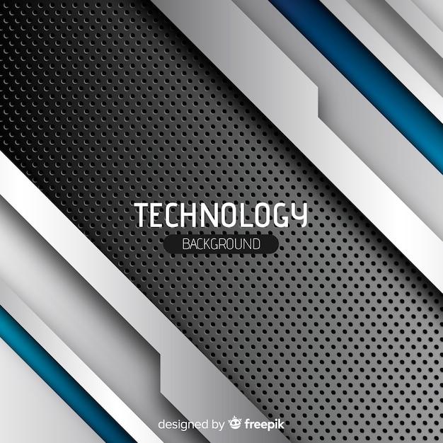 Fond de concept technologique Vecteur gratuit