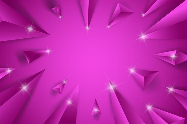 Fond De Concept Violet Triangle 3d Vecteur gratuit