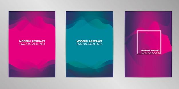 Fond de conception de couverture moderne défini au format a4 Vecteur Premium