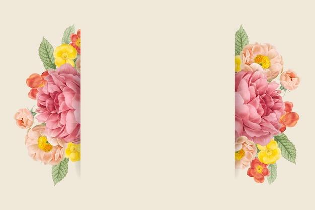 Fond de conception florale Vecteur gratuit