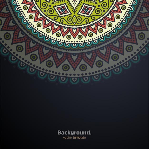 Fond De Conception De Mandala Ornemental De Luxe Coloré Vecteur gratuit