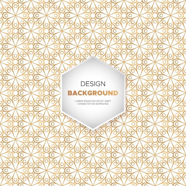 Fond de conception de mandala ornemental de luxe en couleur or Vecteur gratuit