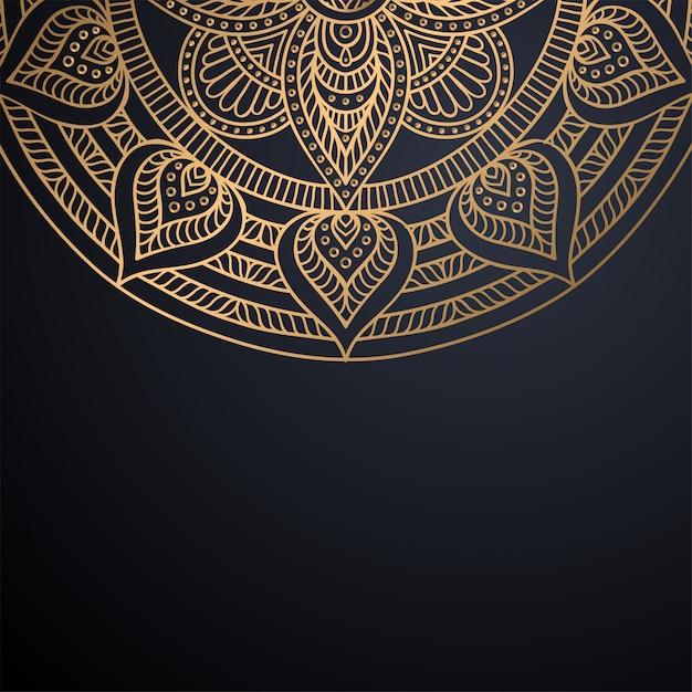 Fond De Conception De Mandala Ornemental De Luxe Vecteur gratuit