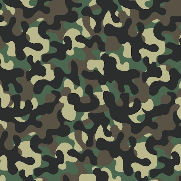 Fond de conception militaire uniforme de camouflage Vecteur Premium