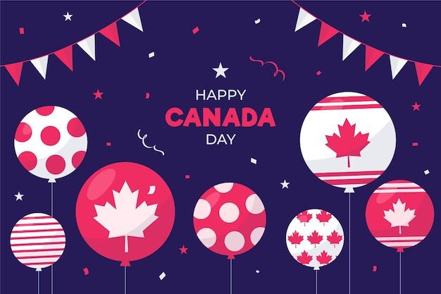 Fond De Conception Plate Ballons De La Fête Du Canada Vecteur gratuit
