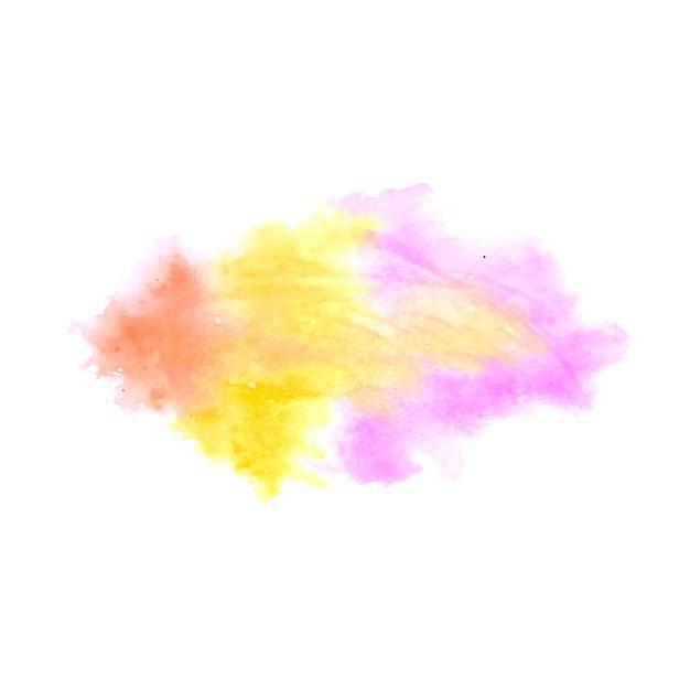 Fond De Conception De Tache Aquarelle Splash Coloré Vecteur gratuit