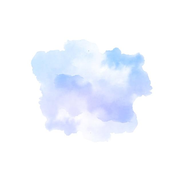 Fond De Conception De Tache Aquarelle Splash Violet Doux Vecteur gratuit