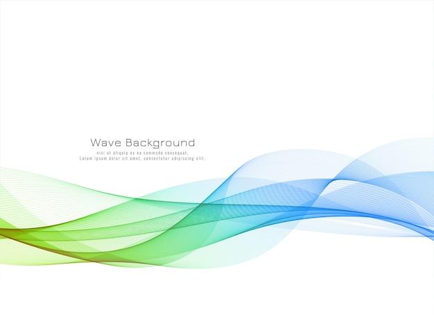 Fond De Conception De Vague Colorée Moderne Vecteur gratuit